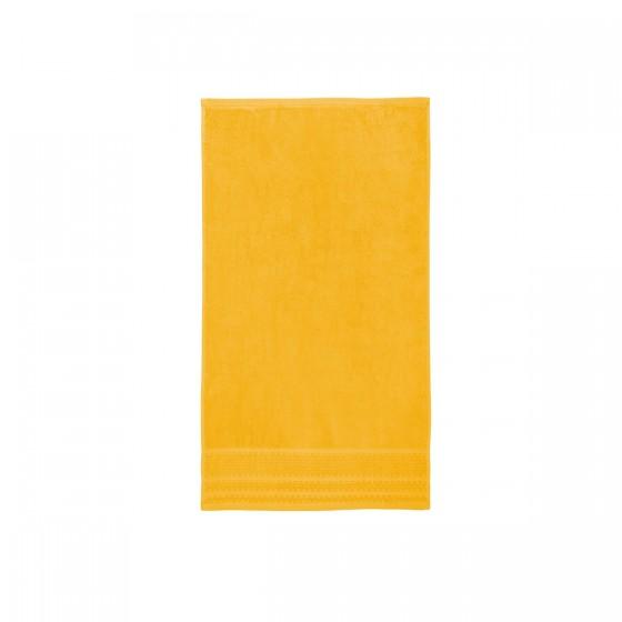 Жълта хавлиена кърпа с бамбукови влакна ЛЕТЕН БАМБУК, размер 50х90 см