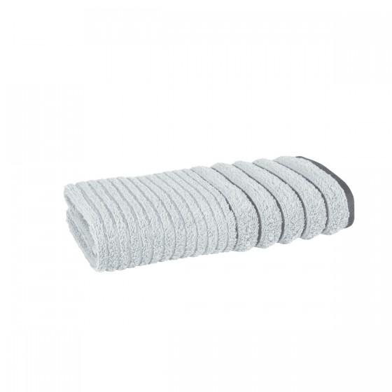 Плътна хавлиена кърпа за баня в сиво ХАВАНА, размер 50х90 см