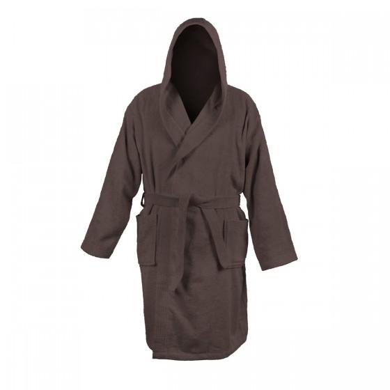 Халат за баня с бамбукови нишки в кафяво БАМБУК, размер S/M