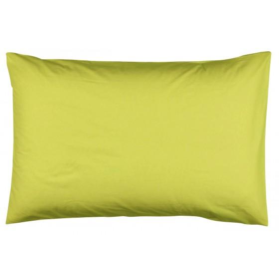 Едноцветна Калъфка за възглавница лайм 50/70, 100% Памук Ранфорс