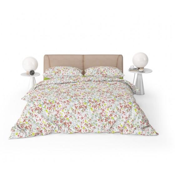 Лятно Спално бельо, Свежи Цветове, 100% Памук Ранфорс Клер, за единично легло