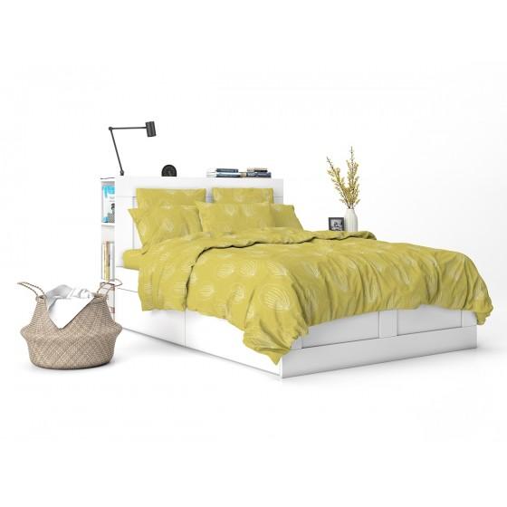 Жълто Спално Бельо ГРЕЙС 2, за Единично легло