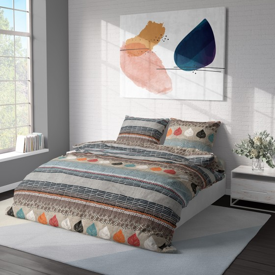 Качествено Спално Бельо 100% Памук Ранфорс КАЯ, за Единично Легло