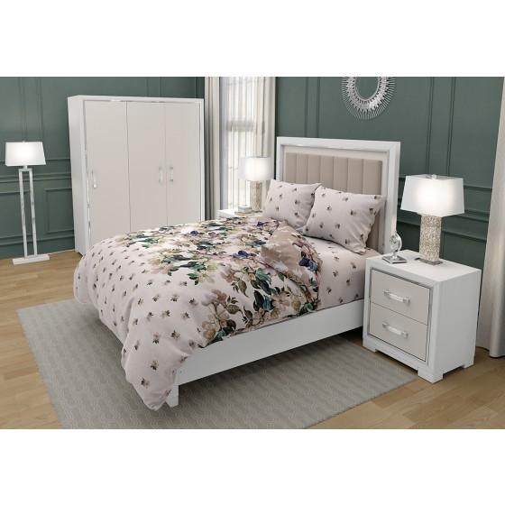 Винтидж Красиво Спално Бельо ЛАУРА на Цветя, Размер за Спалня с един Плик, 100% памук, ранфорс