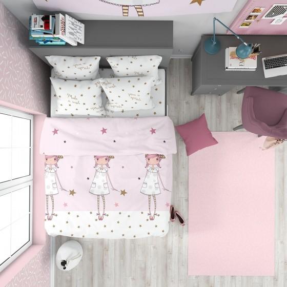 Детско Спално Бельо Ранфорс, Качествена Материя 100% Памук и Красив Десен Желание
