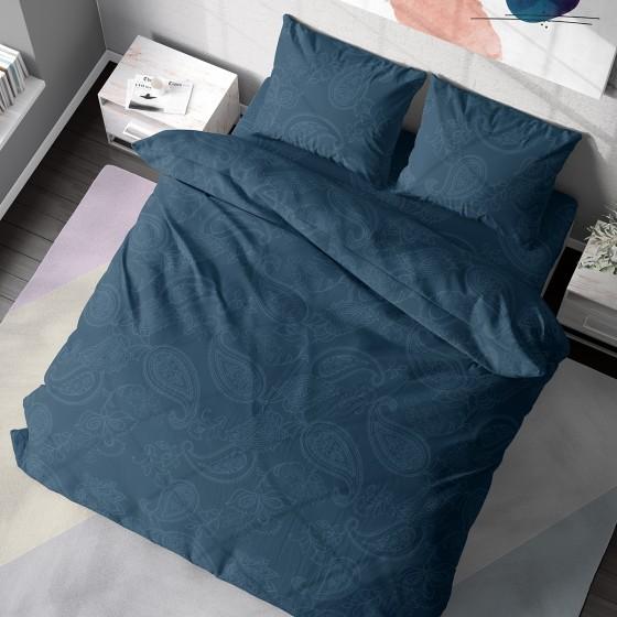 Единично Спално Бельо от 100% Памук, Олимпия 2,Етно Спално Бельо Синьо-Зелено