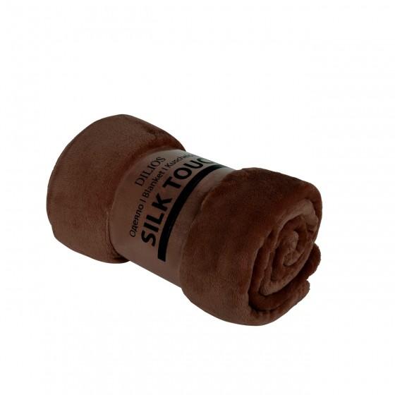 Кафяво Едноцветно Одеяло, Изключително Меко и Топло - SILK TOUCH , 130/170 см