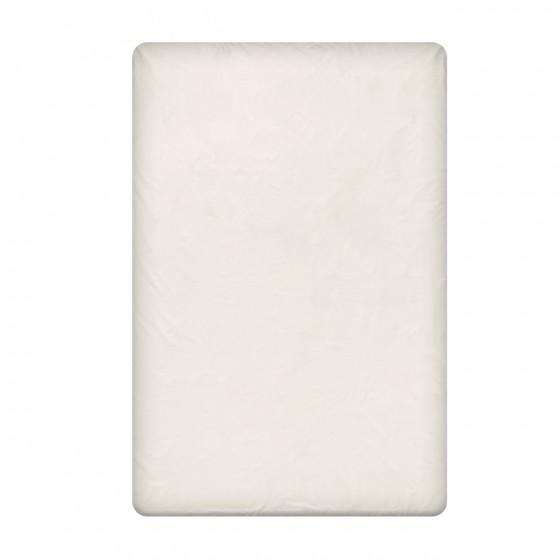 Едноцветен долен чаршаф в светло екрю, размер 150/260 см., материя Ранфорс