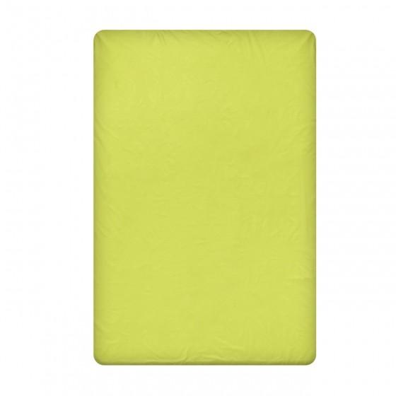 Едноцветен долен чаршаф в зелено, размер 220/240 см, материя Ранфорс