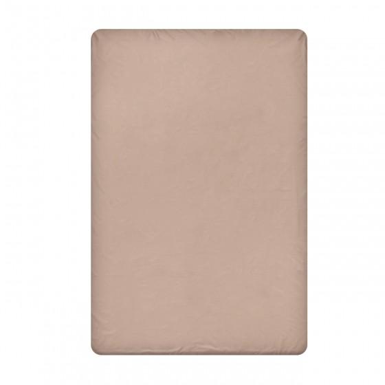 Едноцветен долен чаршаф в цвят капучино /мик мак/, размер 150/260 см, материя Ранфорс