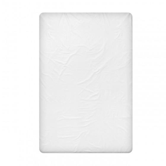Бял долен чаршаф от памучен сатен в двоен размер, 240/260 см.