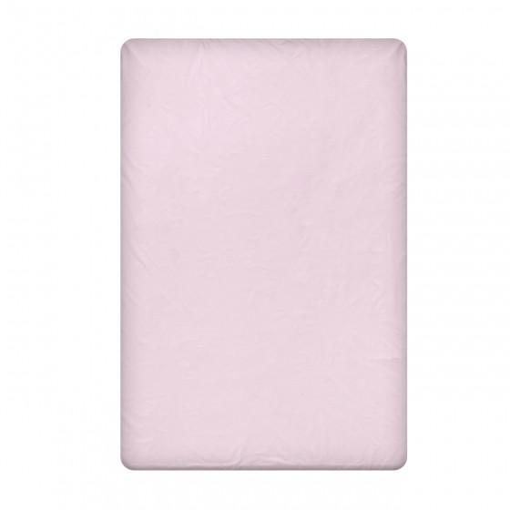 Едноцветен долен чаршаф в светло лилаво, размер 150/260 см, материя Ранфорс