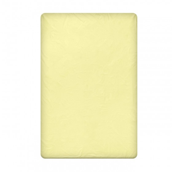 Едноцветен Долен чаршаф в светло жълто, размер 150/220 см, материя Ранфорс
