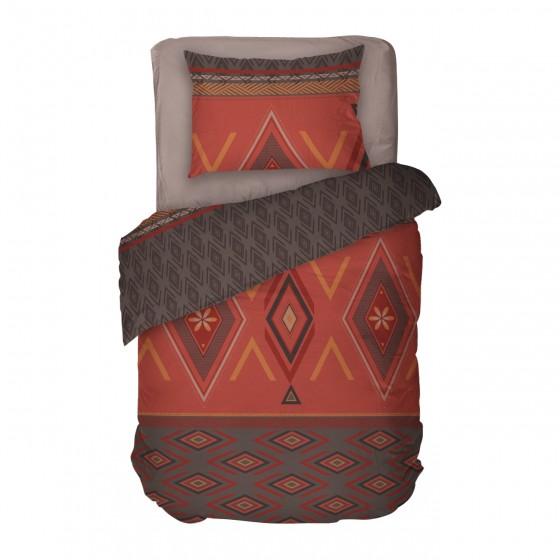 Наситено спално бельо от памук - ЗАХИРА, Единичен размер