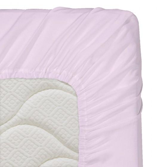 200/200/20 см, чаршаф с ластик ранфорс - светло лилаво