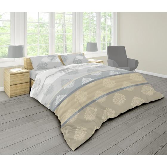 Единичен  Размер Спално Бельо в Три Цвята Глори, Кралска Орнаментика, 100% Ранфорс
