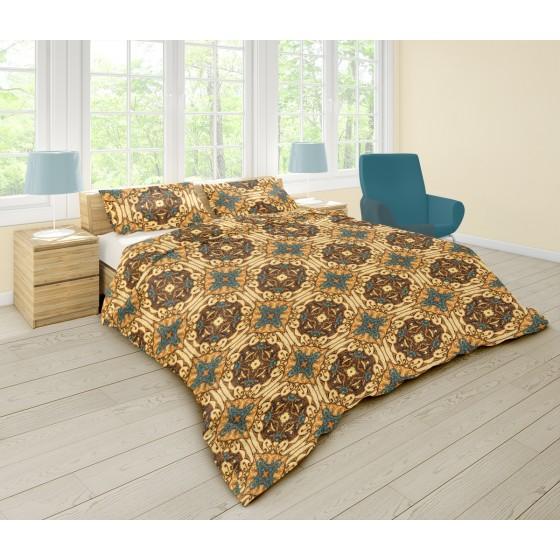 Единично спално бельо в БОХО стил - ГОТИК, Интересен дизайн и висикокачествена материя Ранфорс