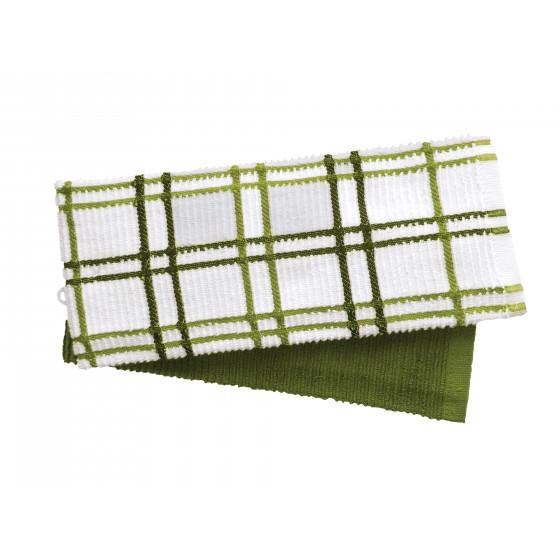 Кухненски Кърпи в Зелено, Комплект от 2 Броя, 100% Памук