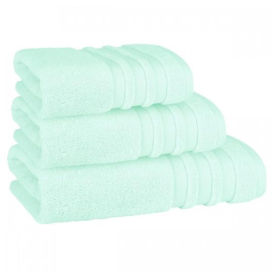 Красива кърпа за баня в светло зелено ПАСТЕЛ, размер 50/90 см, 100% микропамук