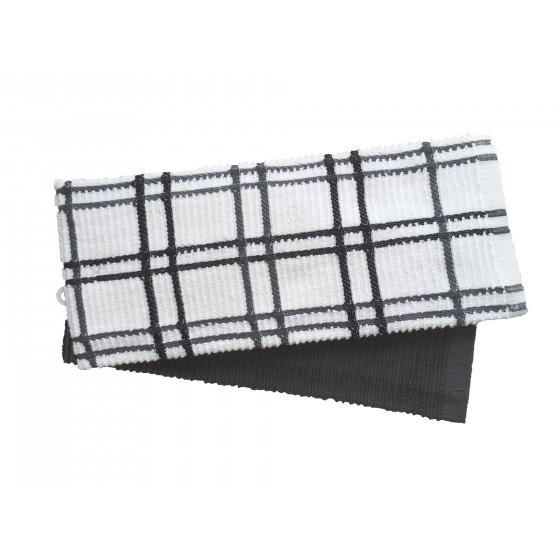 Кухненски Кърпи в Сиво, Комплект от 2 Броя, 100% Памук