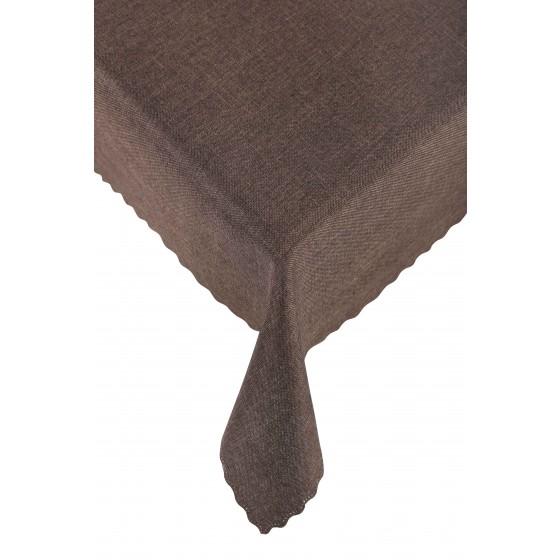 Кафява покривка за маса Карина, Размер 145/220 см.
