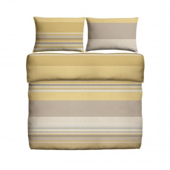 Спално Бельо в цвят горчица с нестандартни размери - Лион, KING SIZE двоен размер, без долен чаршаф