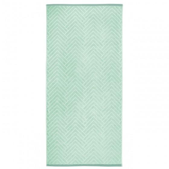Качествена Кърпа за Баня с Двулицев Дизайн в Зелено - Матерхорн, 70/140 см.