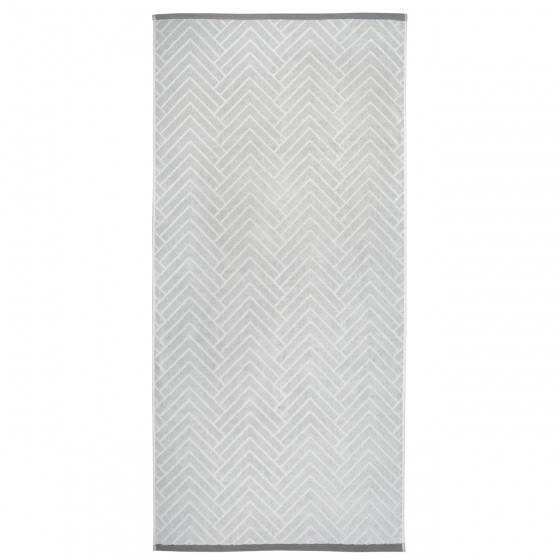 Качествена Кърпа за Баня с Двулицев Дизайн в Сиво - Матерхорн, 70/140 см.