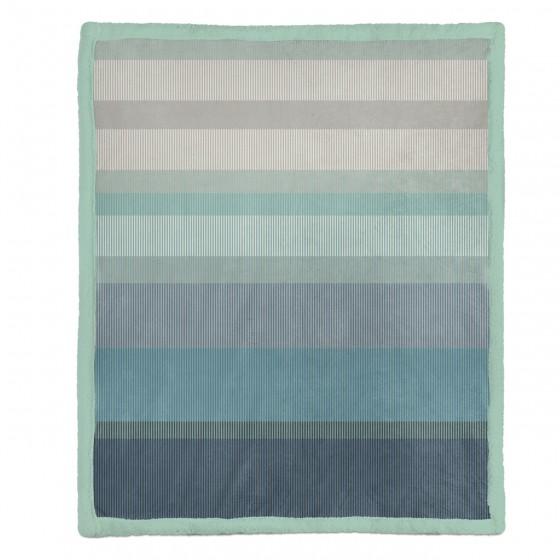 Зимно Одеяло Шерпа с Две Лица - Нептун Синьо, Двоен Размер, 200/220 см.