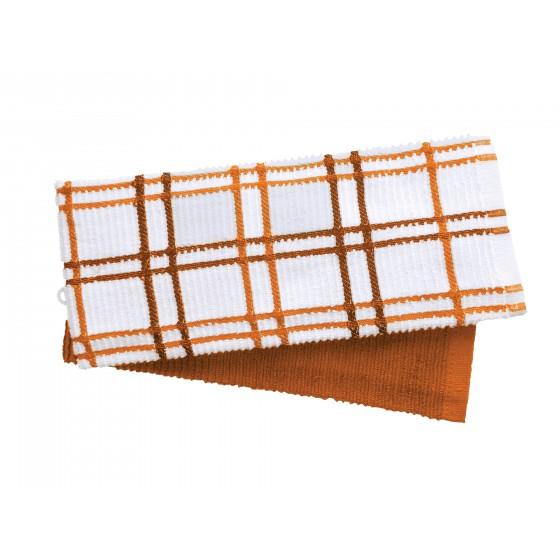Кухненски Кърпи в Оранжево, Комплект от 2 Броя, 100% Памук