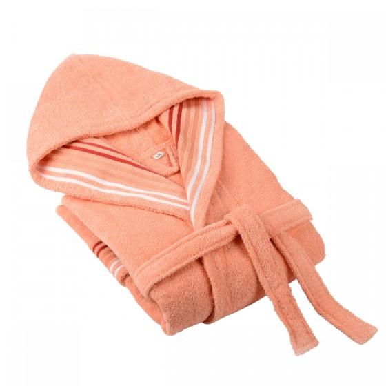 Халат за баня в цвят праскова Венеция, размер S/M, 100% памук