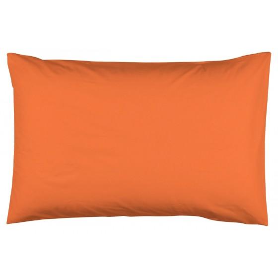 Едноцветна Калъфка за възглавница Оранжево 50/70, 100% Памук Ранфорс