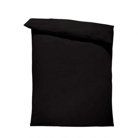 Едноцветен спален плик в Черно, материя ранфорс, размер 200/215 см