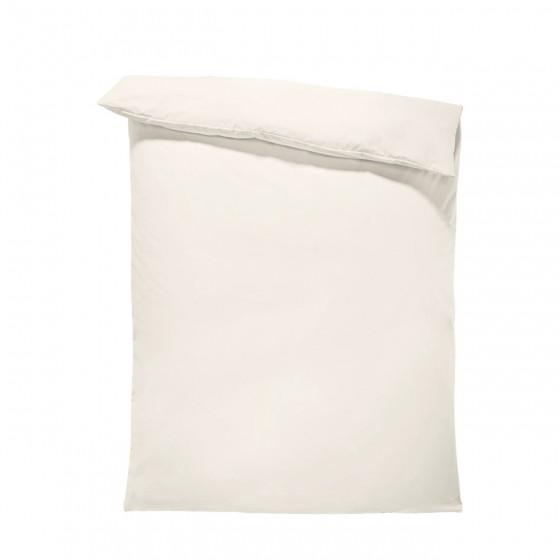 Едноцветен спален плик в светло екрю, материя ранфорс, размер 200/215 см