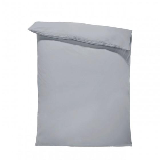 Едноцветен спален плик в тъмно сиво, материя ранфорс, размер 150/215 см.