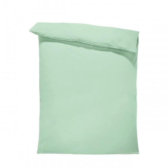 Едноцветен спален плик в цвят мента, материя ранфорс, размер 150/215 см.