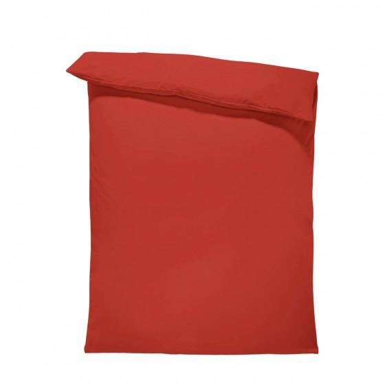 Едноцветен спален плик в Червено, материя ранфорс, размер 200/215 см