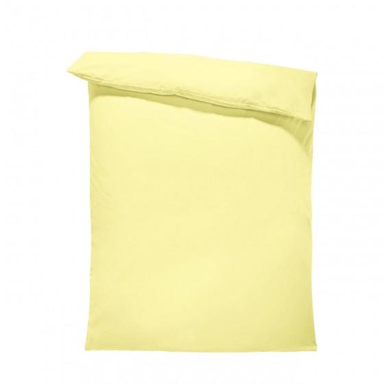 Едноцветен спален плик в светло жълто, материя ранфорс, размер 200/215 см