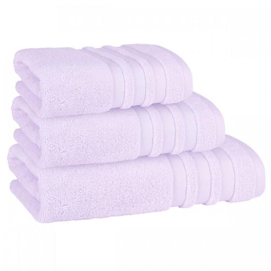 Красива кърпа за баня в светло лилаво ПАСТЕЛ, размер 50/90 см, 100% микропамук