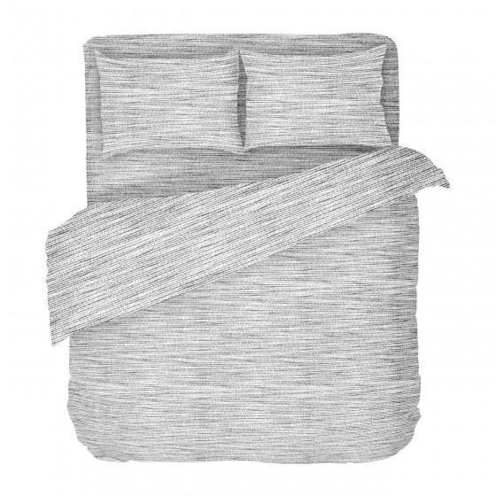 Спално Бельо от Ранфорс в Сиво -  Мист 2, Семпъл Дизайн, 100% Памук, за Спалня с Един Плик