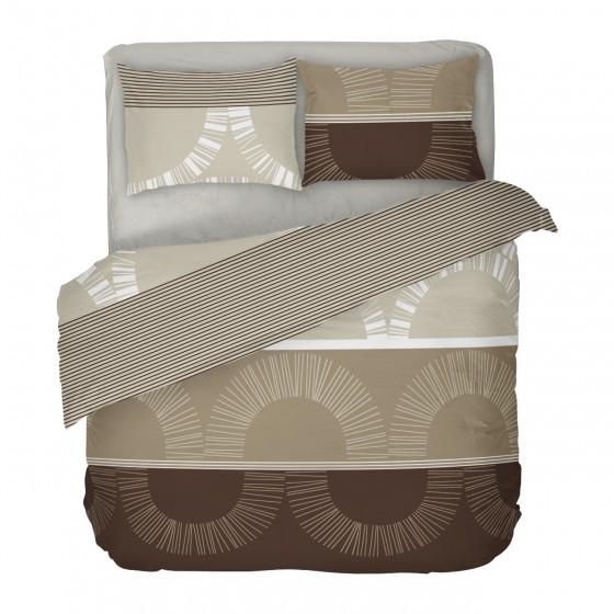 Двоен Размер Спално Бельо с Един Плик, в кафявата гама Мокачино, Спално Бельо с Фигурални Мотиви, Материя Ранфорс