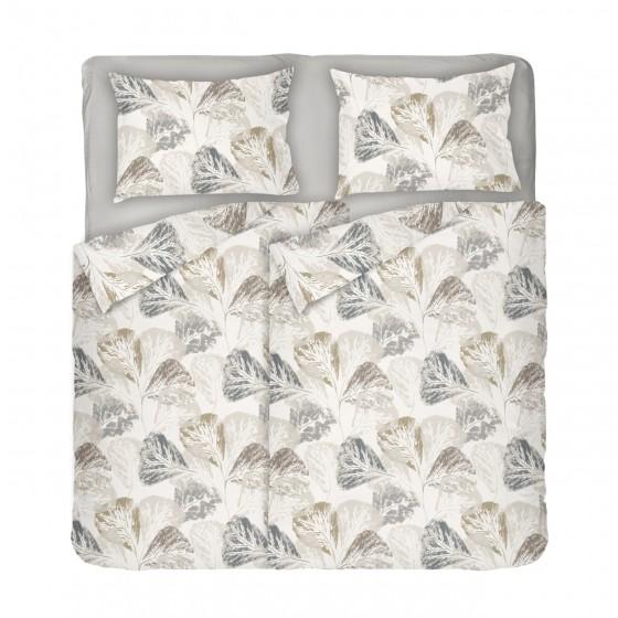 Двоен Размер Спално Бельо Елизабет в Екрю на Листа, С Два Спални Плика, Красив Есенен Дизайн, за Спалня, 100% Памук