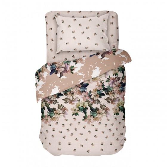 Винтидж Спално Бельо ЛАУРА на Цветя, Единичен Размер, 100% памук, ранфорс