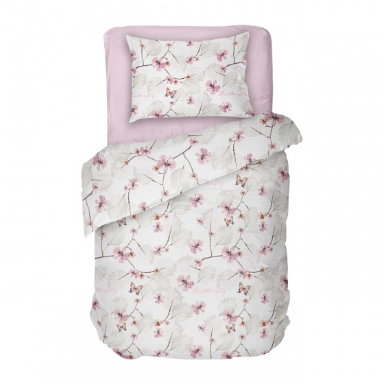 Спално Бельо Розови Цветя МАРИ 2, Единичен размер