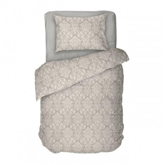 Единично Спално Бельо в Бежово с Фигурални Мотиви рококо 2- винъс, Висококачествена Материя Ранфорс, 100% Памук