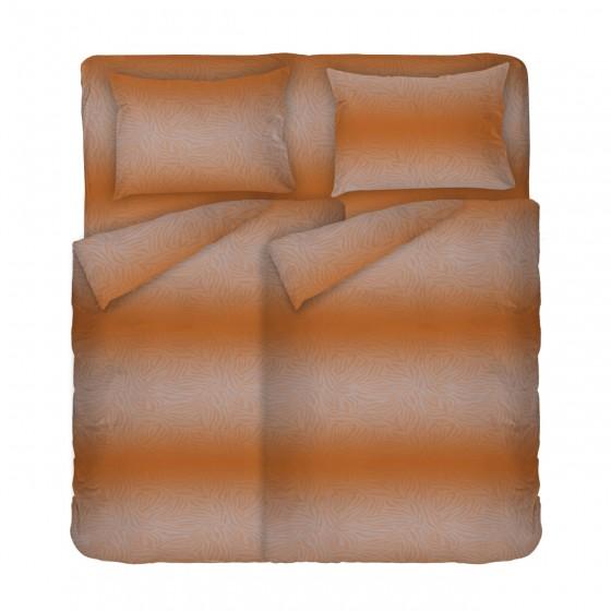 Двоен Размер Спално Бельо Ранфорс с Два Плика - Африка 2, Кафяво с Шарки в Африкански Мотиви, 100% Памук