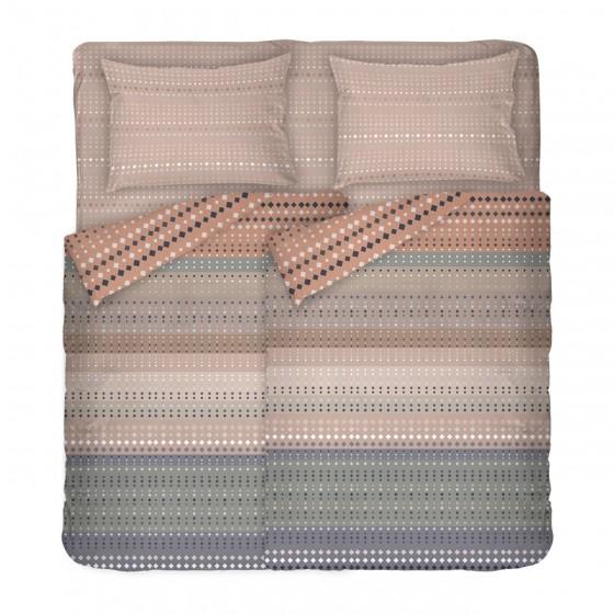 Качествено Спално Бельо ОФЕЛИЯ в Топли Цветове, Размер за Спалня с Два Плика, Модерен и Семпъл Дизайн