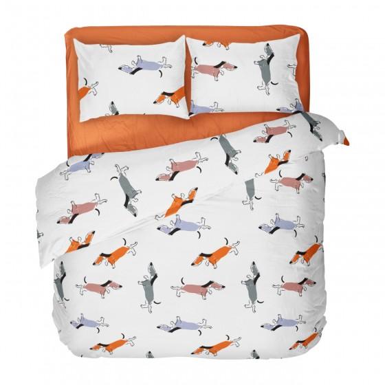 Спално Бельо Памук за Спалня - Доги, за Детска Стая, 100% Ранфорс