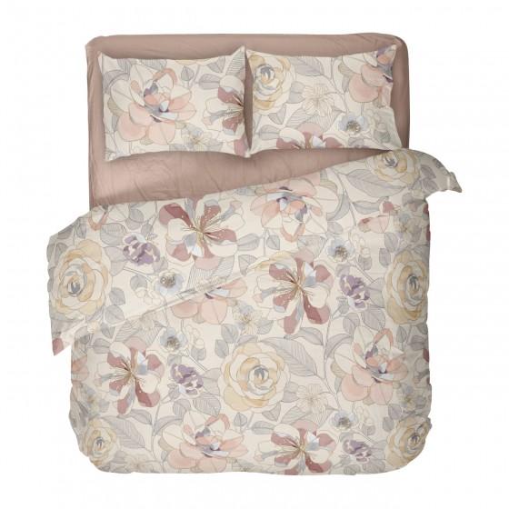 Спално Бельо на Цветя - Персия, Десен на Цветя в Топли Цветове, за Спалня
