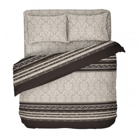 Спално Бельо в Кафяво и Бежово за Спалня, в комбинация с венециански мотиви - рококо, Материя Ранфорс, 100% Памук